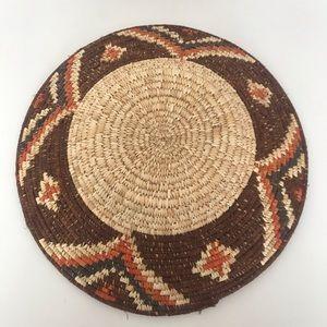 Vintage Accents - Vintage Natural Woven Grass Boho Basket
